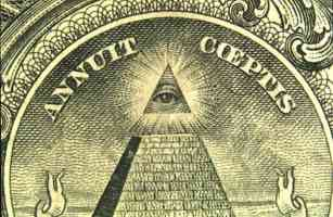 eye on pyramid of dollar bill