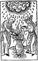 witches making a poisonous brew