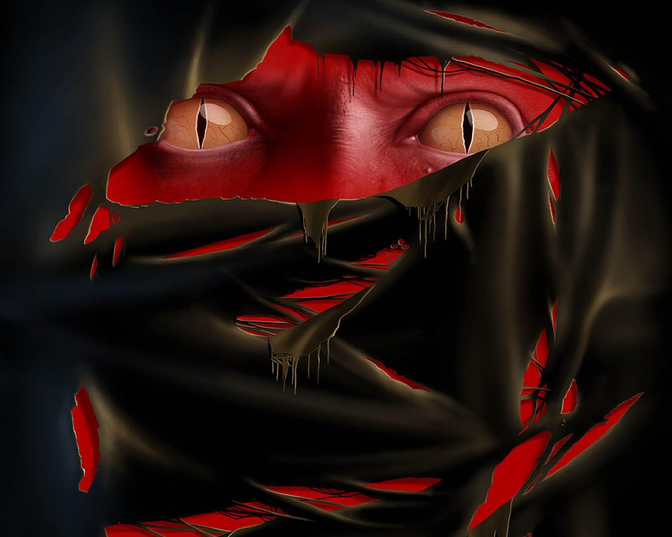 Lizard Eye Red Demon
