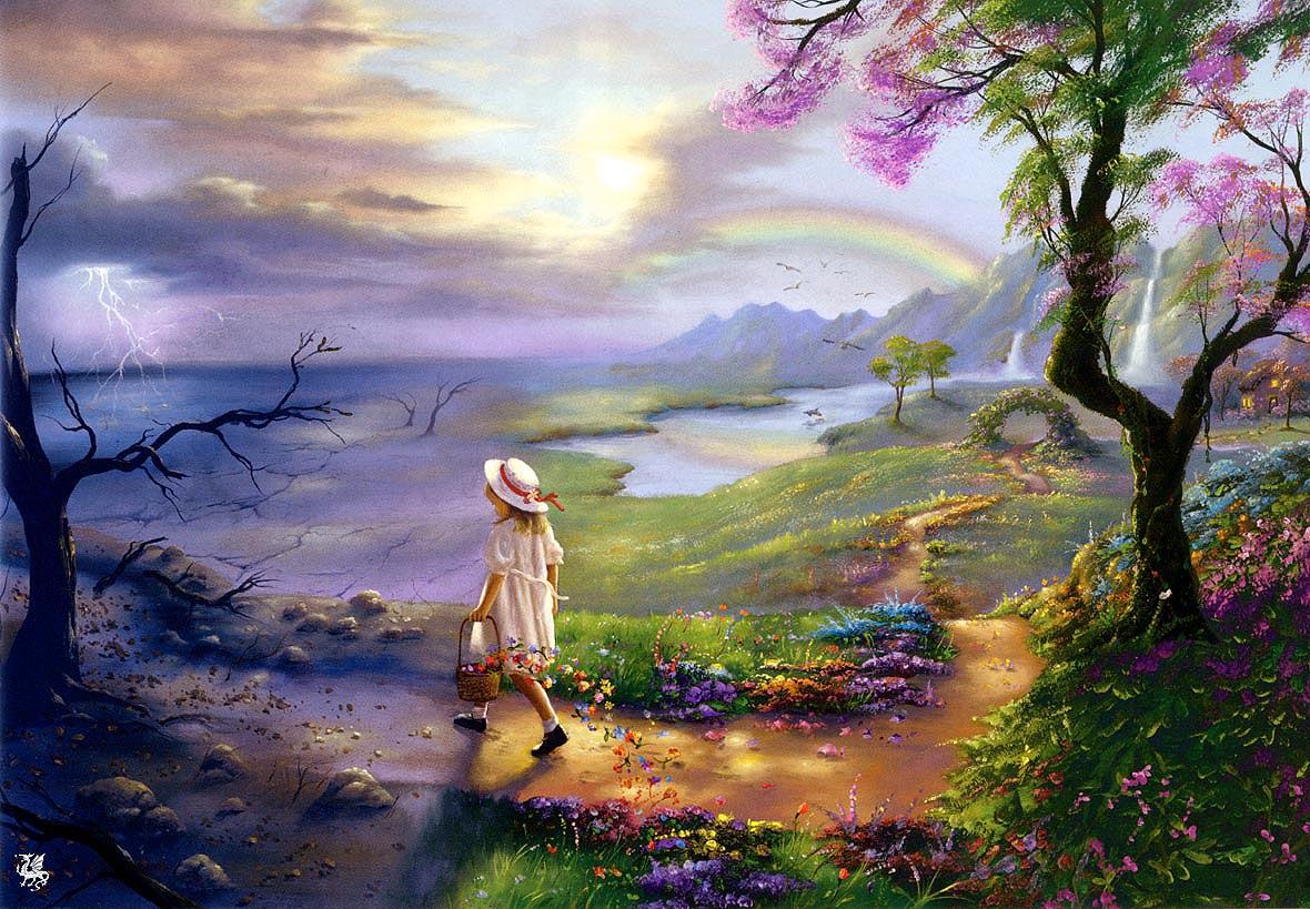 ma warren natures little helper fantasy landscapes