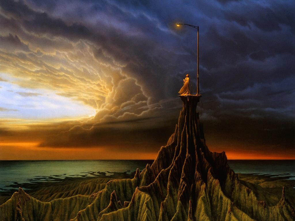 Solitary Lampost Michael Whelan