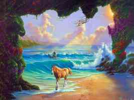 Jim Warren horse by the waves