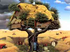 house in a tree Jacek Yerka