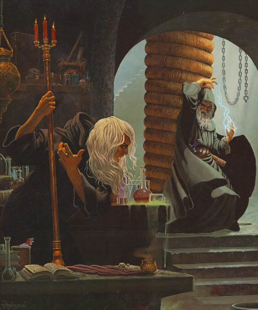 Gandalf And Saruman Fight