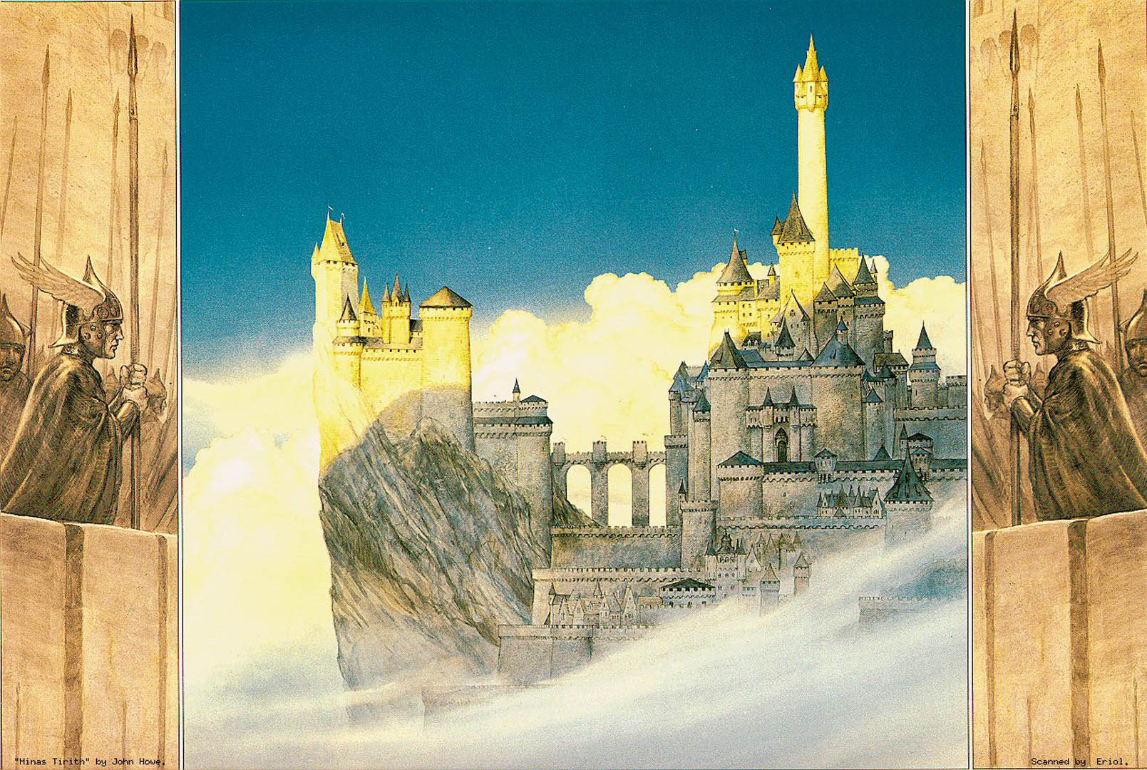 Minas Tirith Fantasy Lord Of The Rings