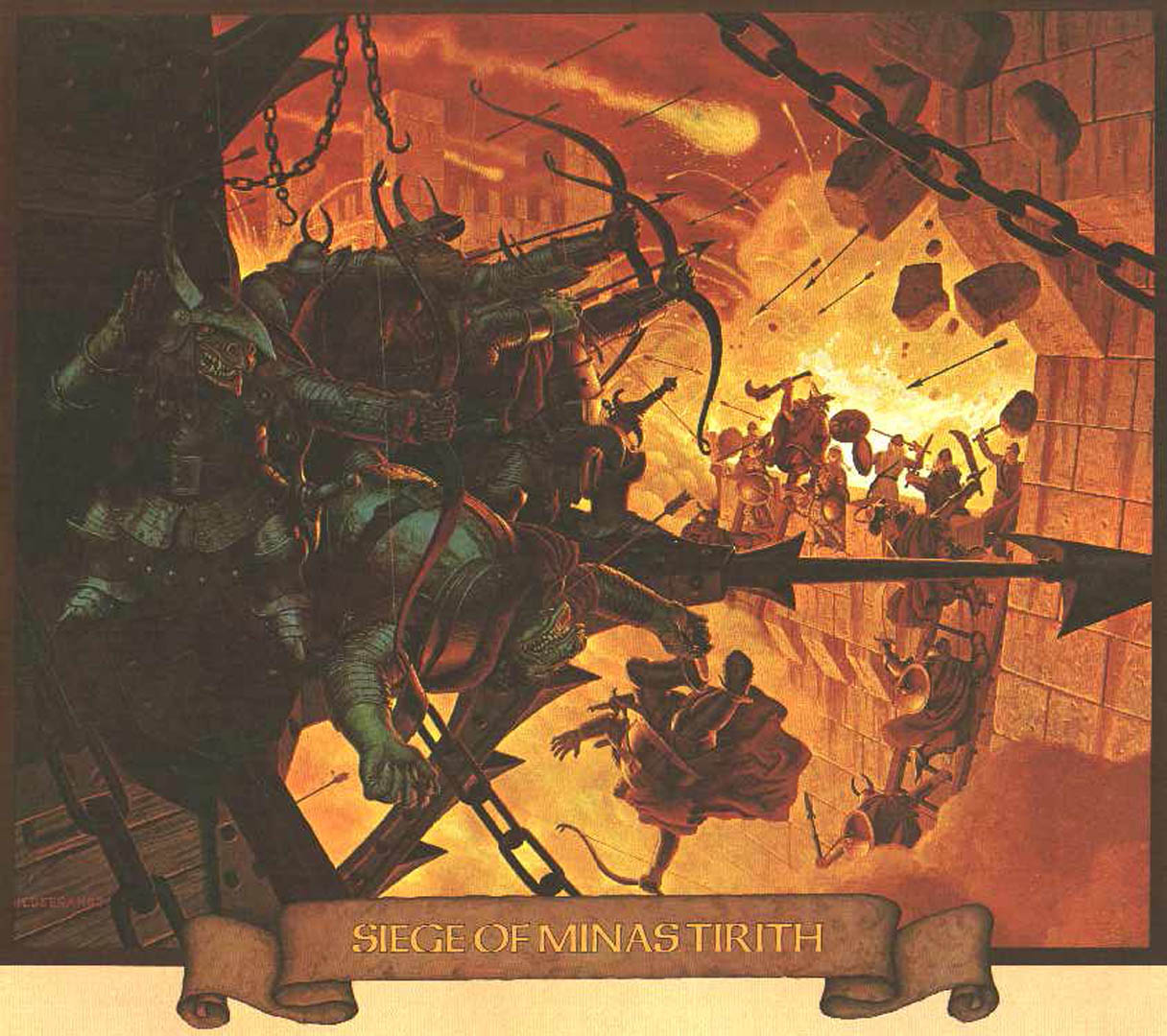 The Siege Of Minas Tirith Fantasy Lord Of The Rings
