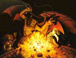 gandalf faces the balrog of moria