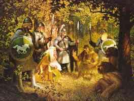gandalf the white talks to the wood folk