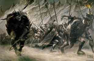 orcs and hobbits in mordor
