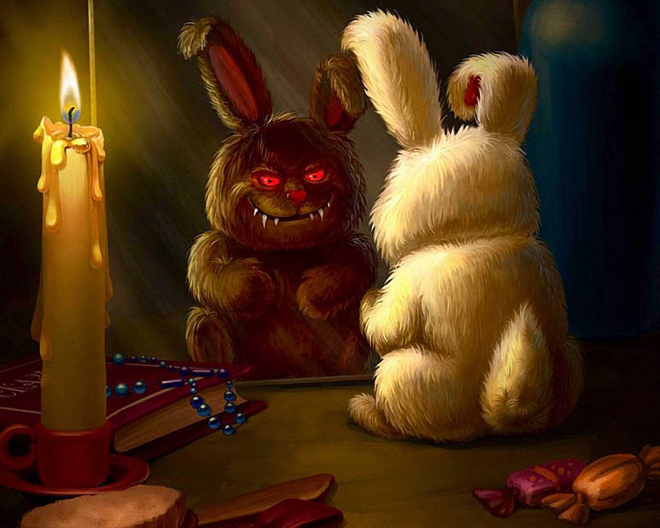 Possessed Demon Rabbit - fantasy monsters wallpaper image
