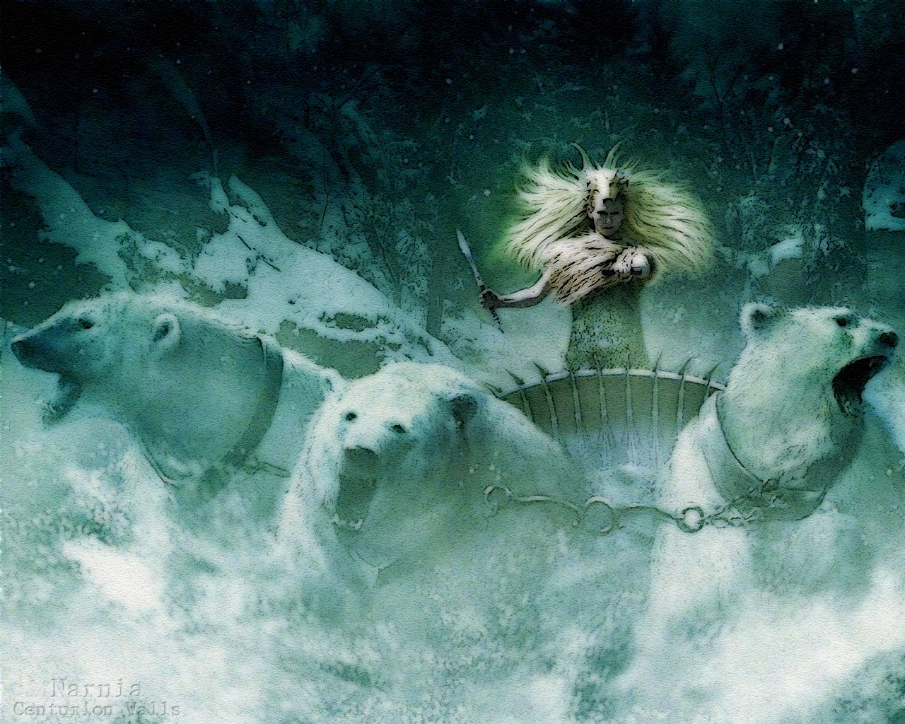 Narnia Snow Queen On Chariot