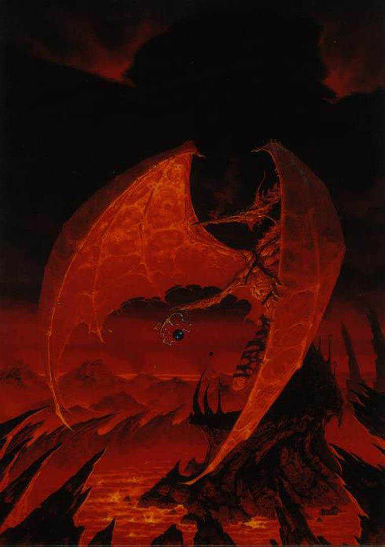 Red Dragon Brom Wallpaper Image