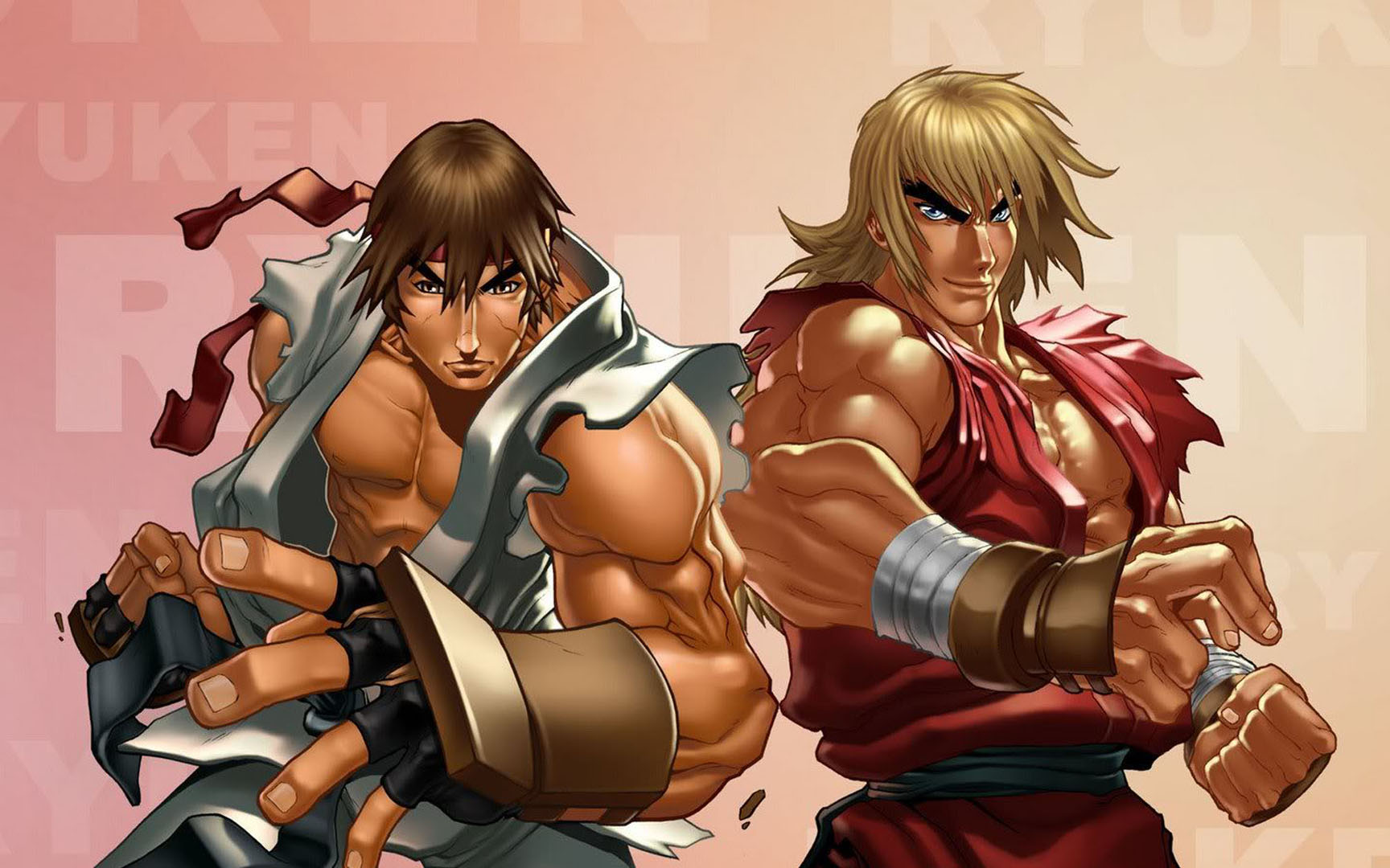 Ryu Vs Ken Street Fighter 2 Wallpaper