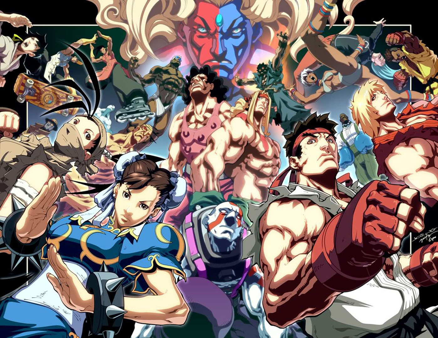 Cast of characters street fighter 3 wallpaper seasonal wallpapers voltagebd Choice Image