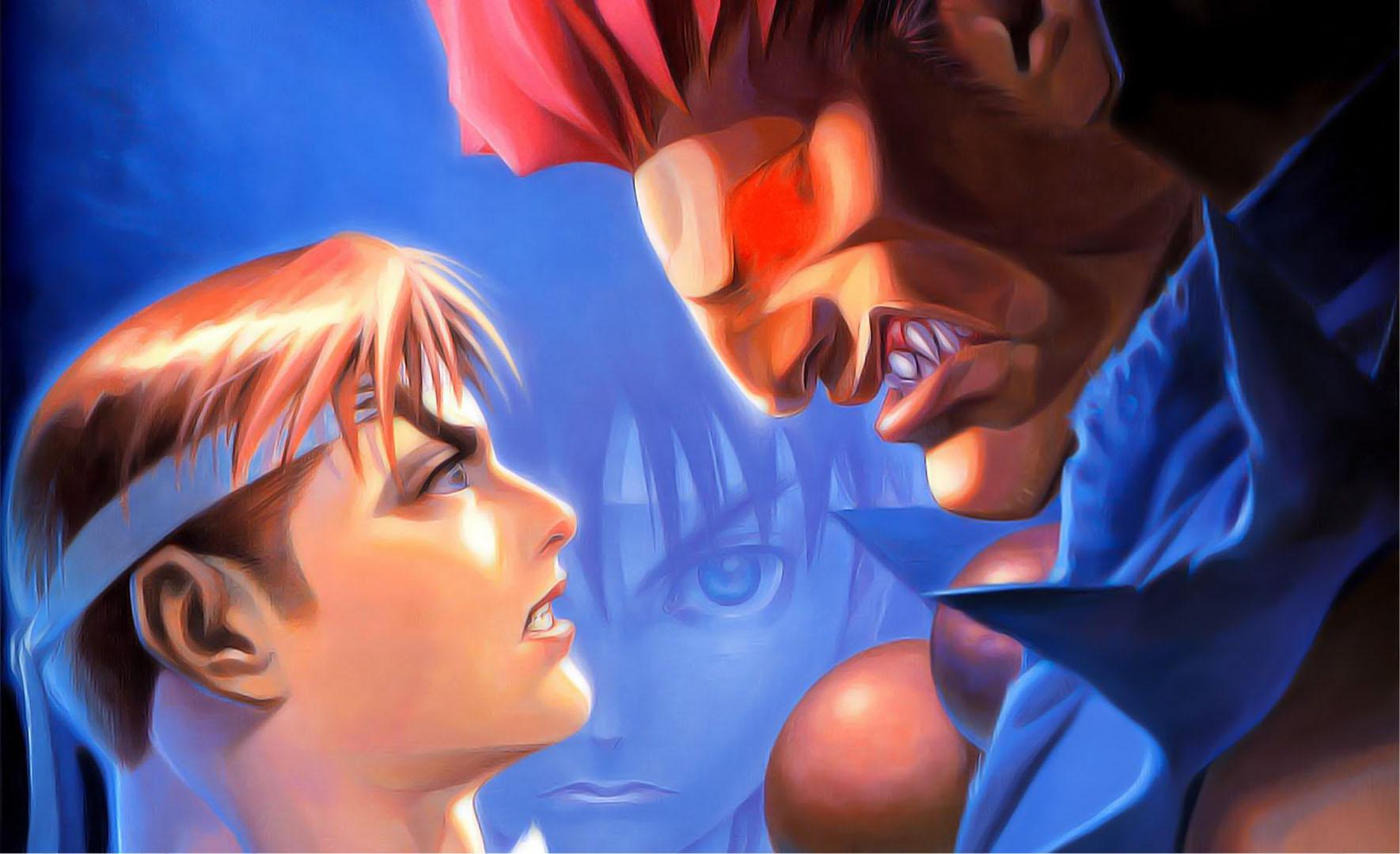 Ryu Vs Akuma Super Street Fighter 4 Wallpaper