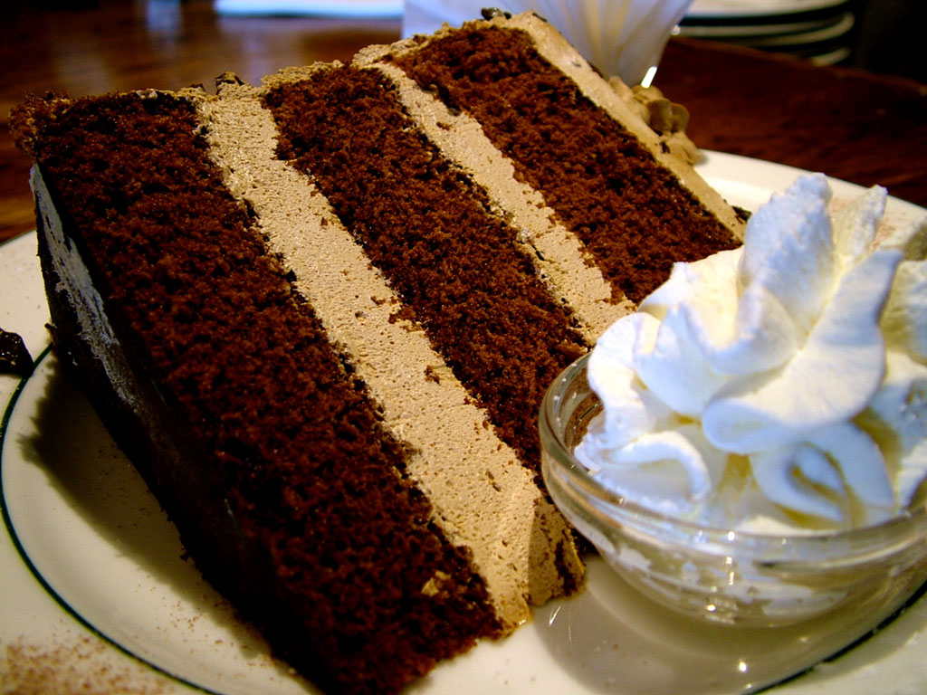 Chocolate And Coffee Cake With Cream