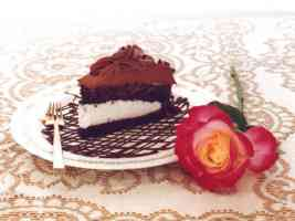 Chocolate Cake and rose