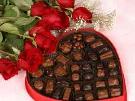 heart shaped box of chocolates