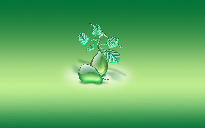 Aqua Pears Green