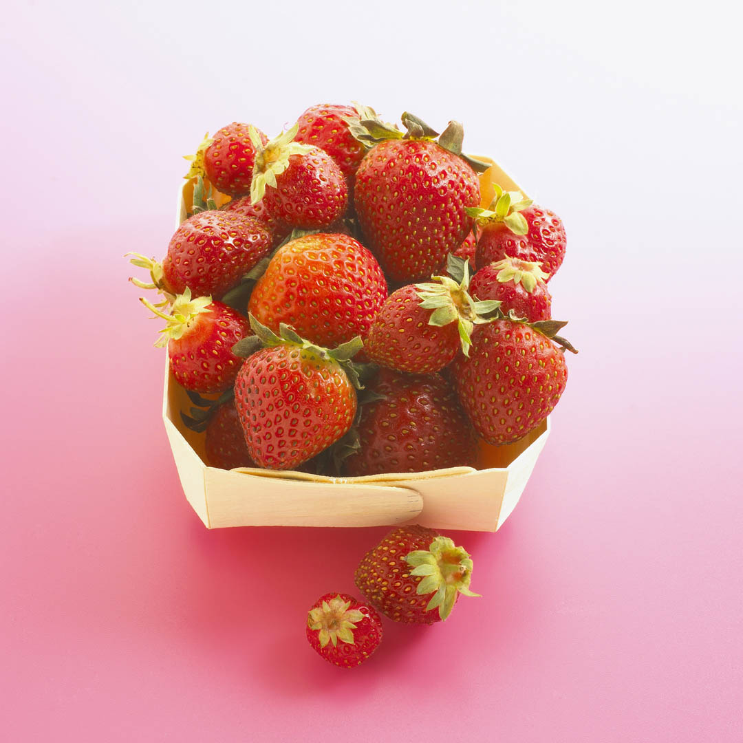 Carton Of Organic Strawberries
