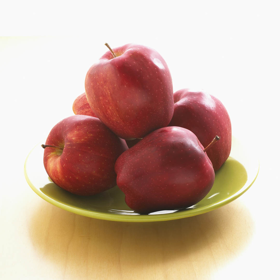 Plate of red apples food and drink wallpaper image featuring fruit