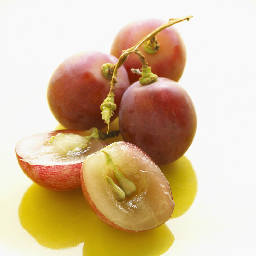 Red Grapes With Pips