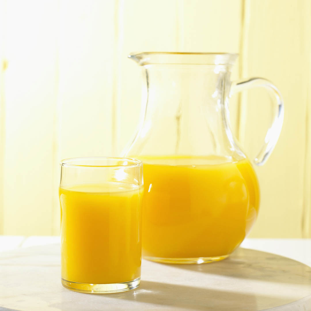 Glass And Jug Of Orange Juice - Fruit Juice Wallpaper