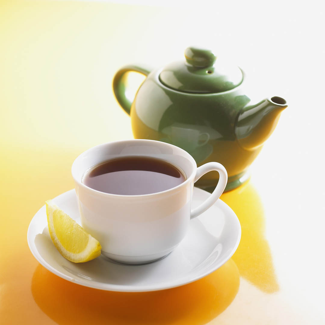 Tea Cup Of Tea And Teapot