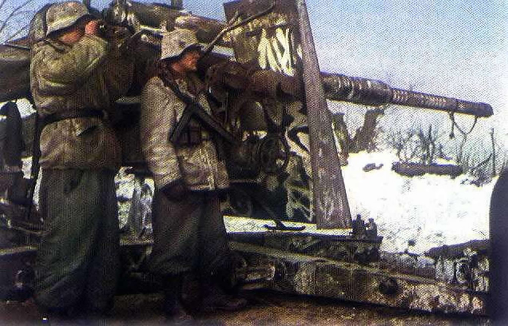 88mm FLAK Used In Ground Warfare On Eastern Front Russia 1942
