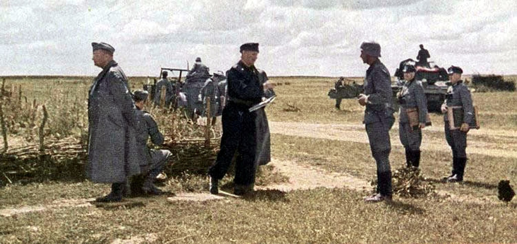 A German General Gives Commands To The Troops