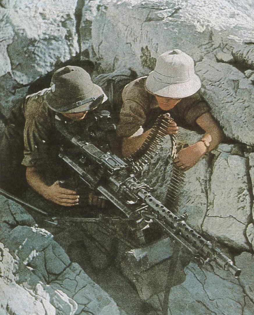 Afrika Korps Am Schweren MG 34