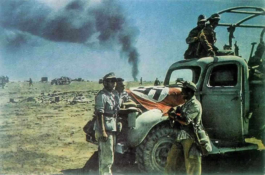 English Booty Truck Is Used By The Afrika Korps