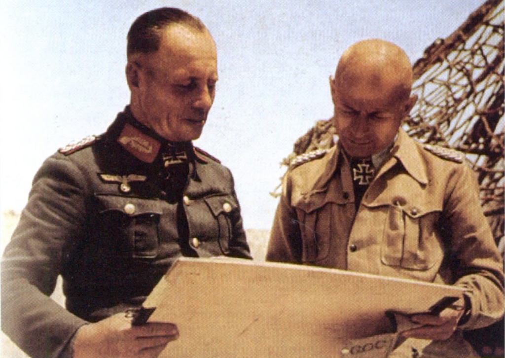 Field Marshal Erwin Rommel Studying The Military Situation