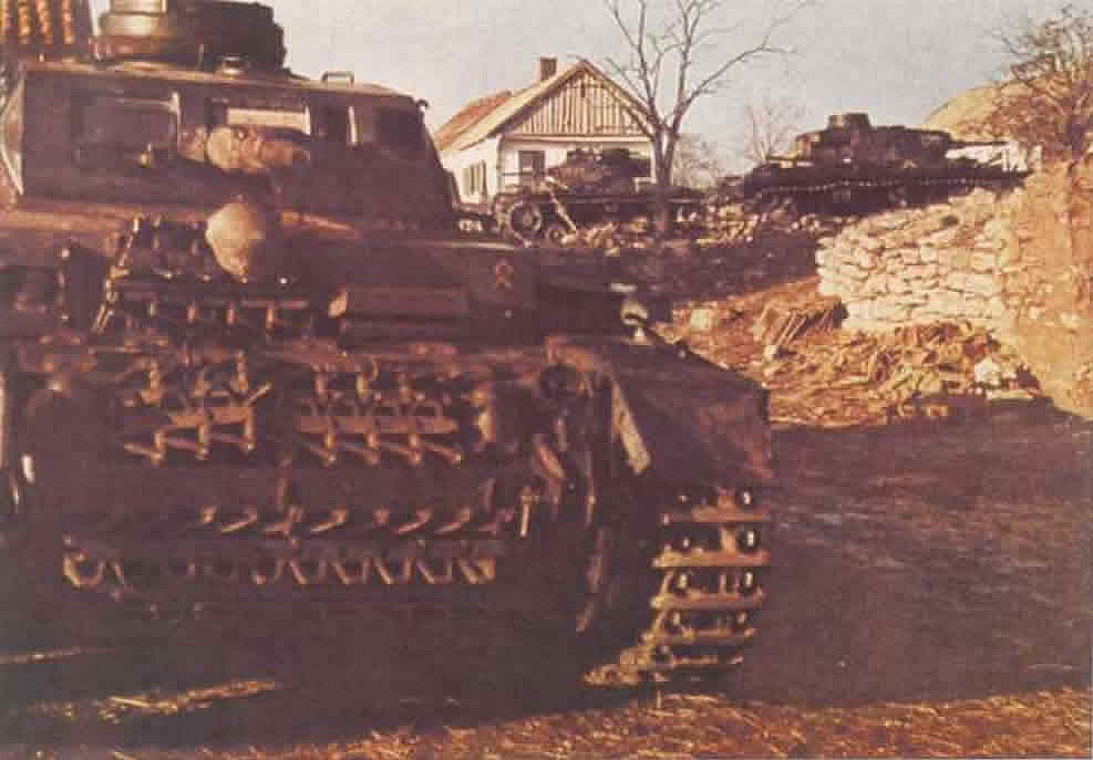 German Panzer III In A Russian Village - German World War 2