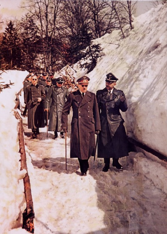 Hitler And Himmler On A Winter Walk In January 1945