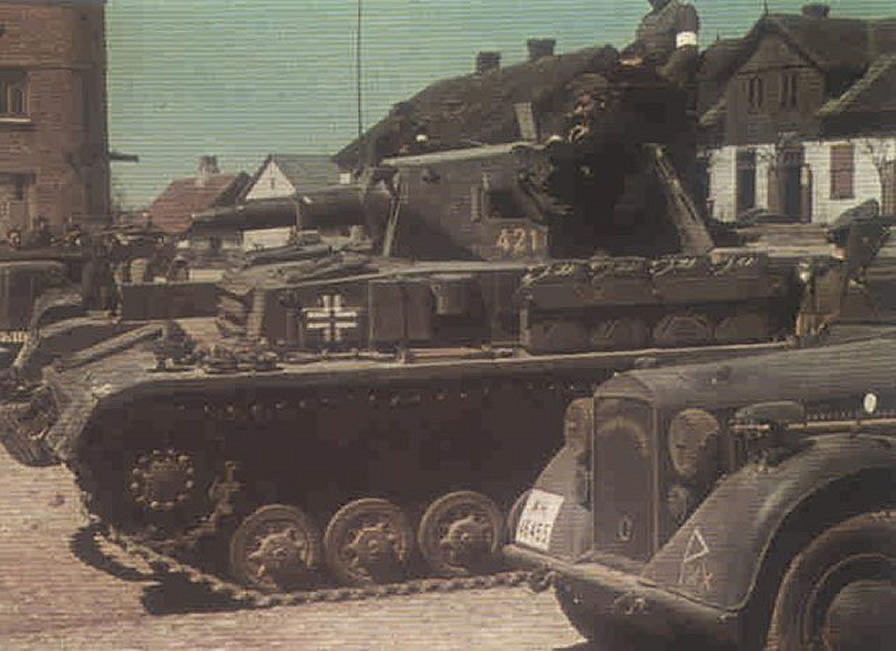Panzer iv tank at rest historical german world war 2 colour image