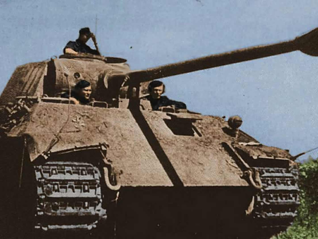 Panther tank close up historical german world war 2 colour image