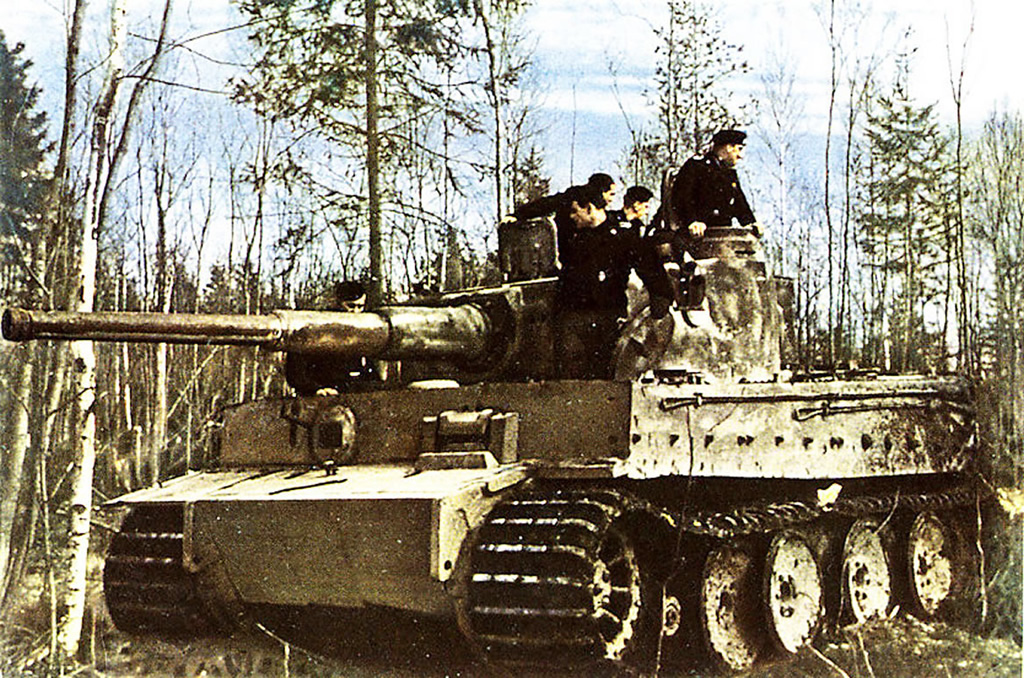 Tiger Panzer Tank In Position German World War 2 Colour