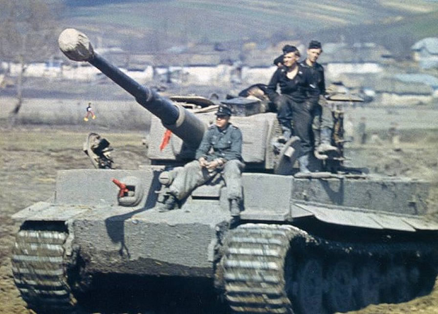 Tiger Tank With Mounted Crew