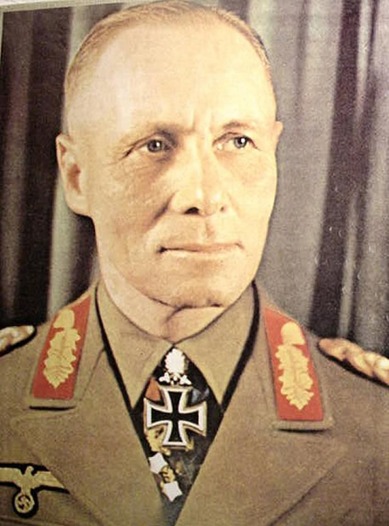 Marshal erwin rommel historical german world war 2 colour image