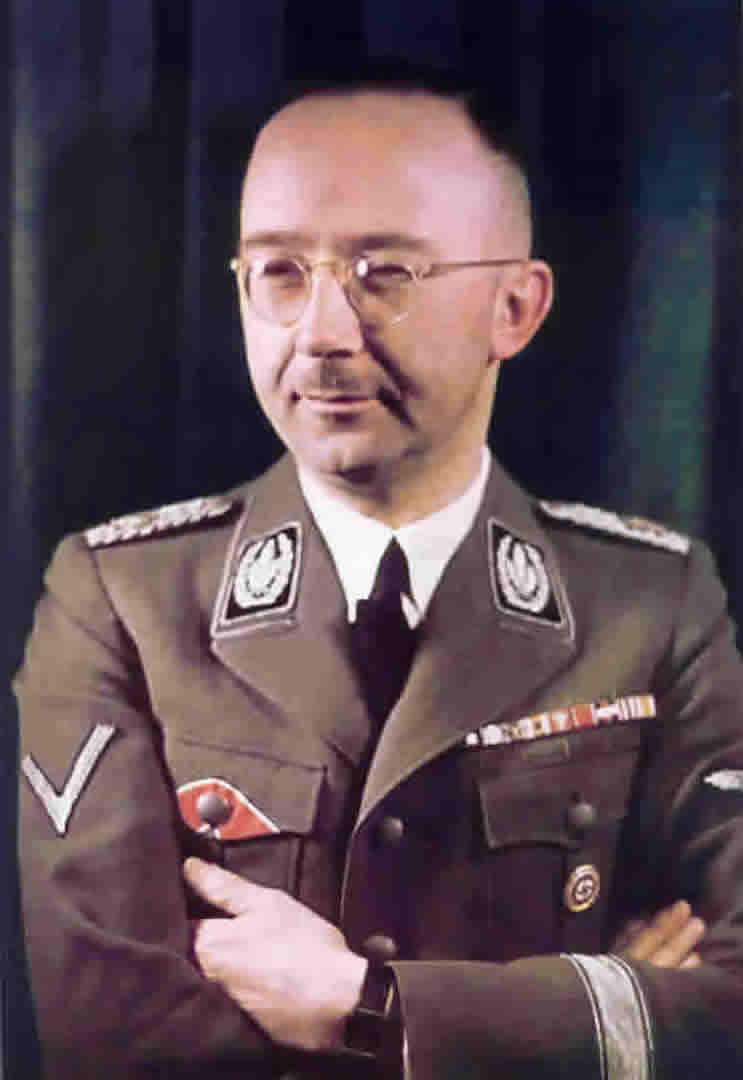 German World War 2 Colour Portrait Of Heinrich Himmler