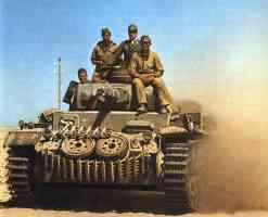 Afrika Korps commanding Panzer III tank