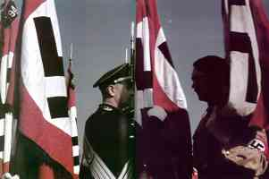 Hitler Flags consecration at the Nuremberg Nazi Party rally in 1938