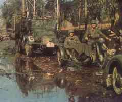 In the swamp in Russia 1941