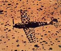 Me109 painted with Africa camouflage