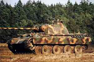 Panther tank in position