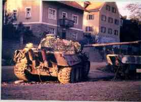 Panther tank out of action