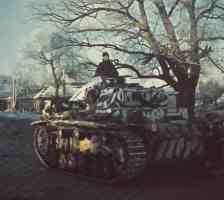 Panzer III tank in russian winter