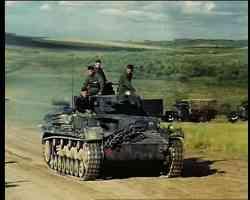 Panzer IV tank at full speed