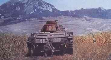 Protection of armored infantry in the panzer tank III